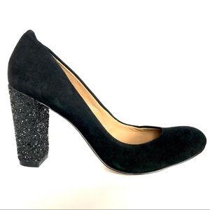 Ann Taylor Perfect Block Heel-Glitt